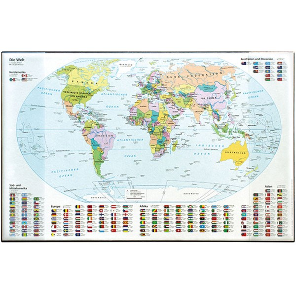 Idena Schreibunterlage PP (Weltkarte) 14012