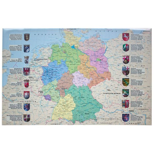 Idena Schreibunterlage PP (Deutschlandkarte) 14014