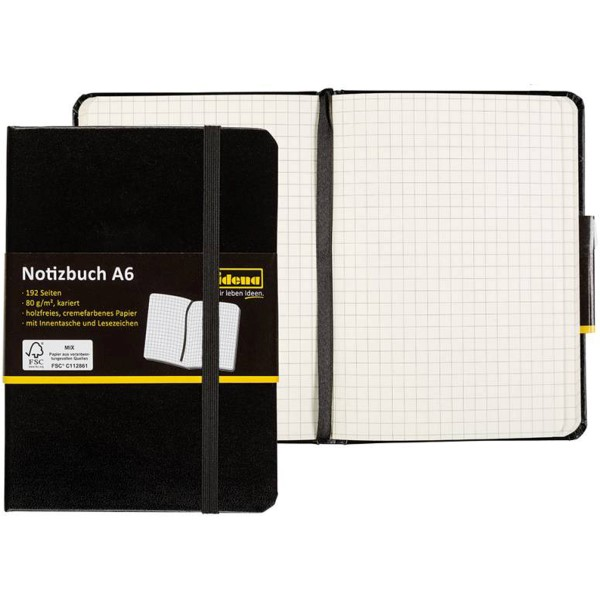 Idena Notizbuch A6 (verschiedene Lineaturen)