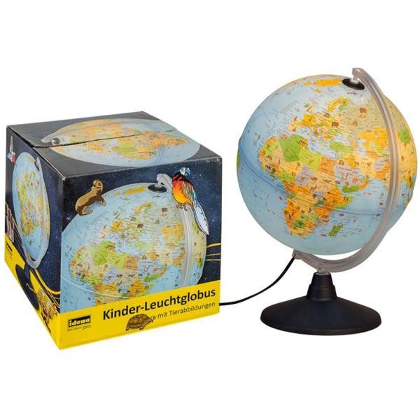 Idena Kinder-Leuchtglobus mit Tierabbildung 22059