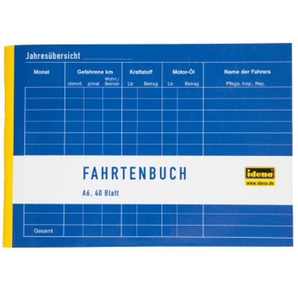 Idena Fahrtenbuch A6 40 Blatt quer 314250