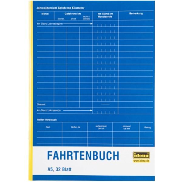 Idena Fahrtenbuch A5 32 Blatt 314251