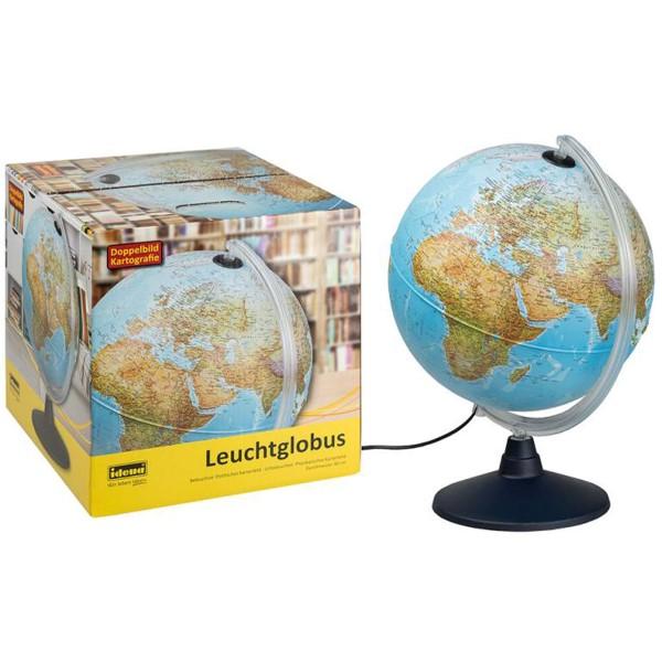 Idena Leuchtglobus Erde mit 2 Kartenbildern 569902
