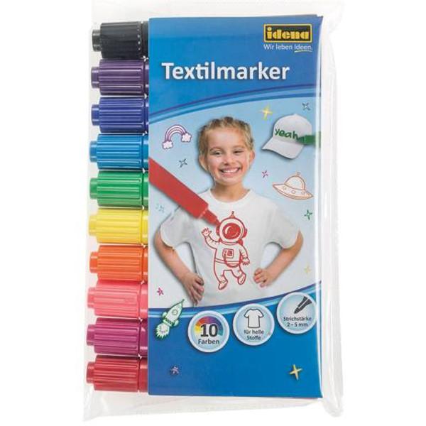 Idena Textilmarker 10er farbig sortiert 60035