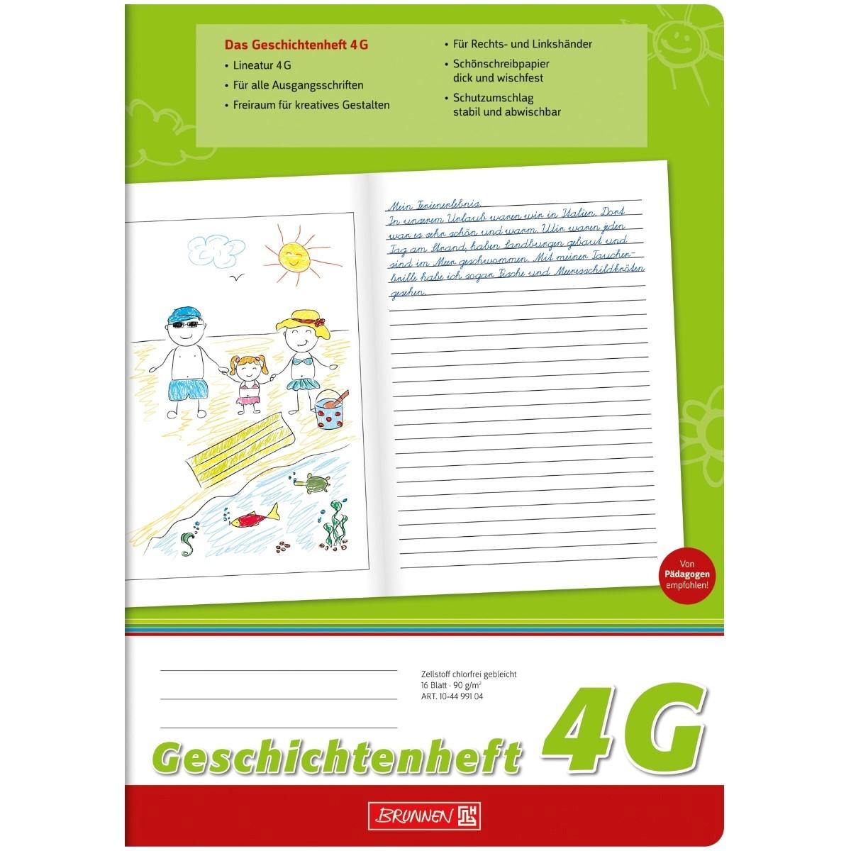 10-44 991 04 A4,LIneatur 4G Brunnen Geschichtenheft