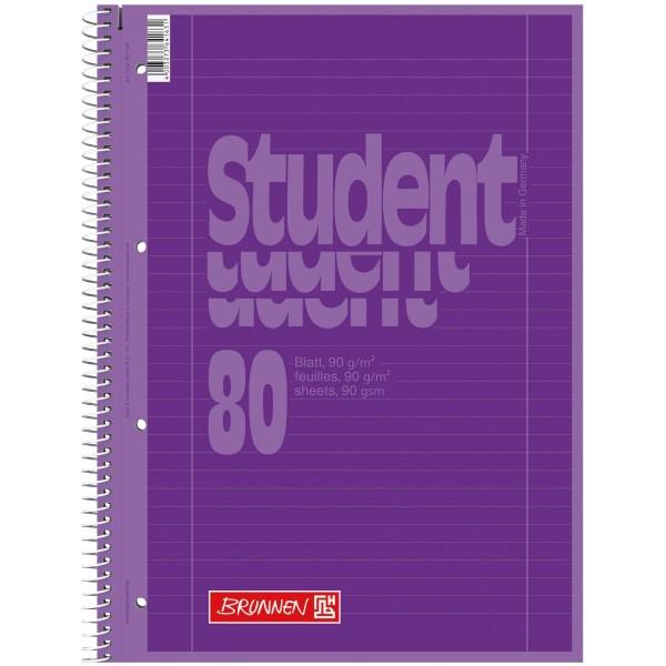 Brunnen Collegeblock A4 Lineatur 27 Umschlag purple