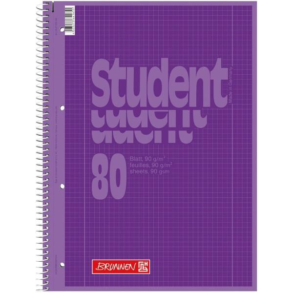Brunnen Collegeblock A4 Lineatur 28 Umschlag purple