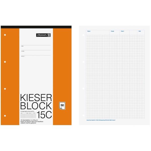 Brunnen Kieser-Block DIN-A4 Lin. 15C