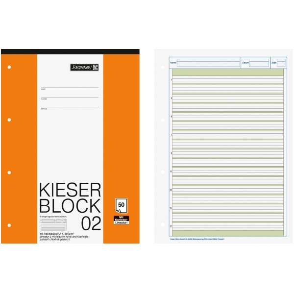Brunnen Kieser-Block DIN-A4 Lin. 02