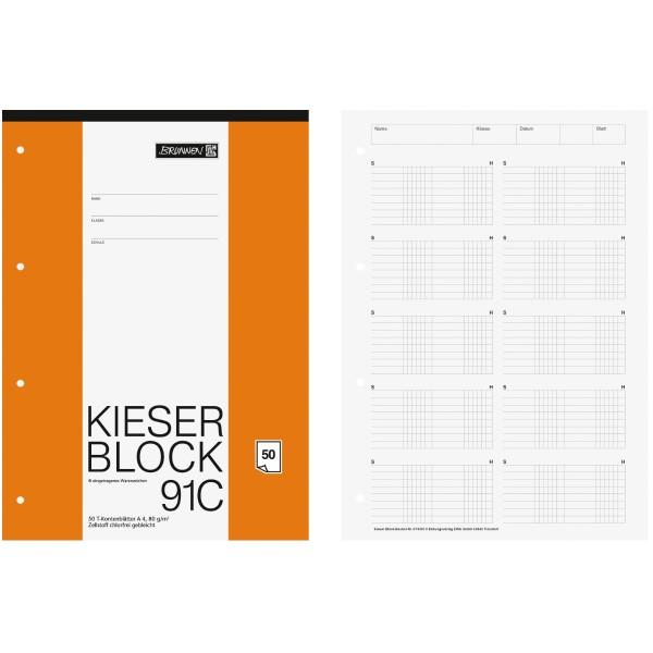 Brunnen Kieser-Block DIN-A4 Lin. 91C