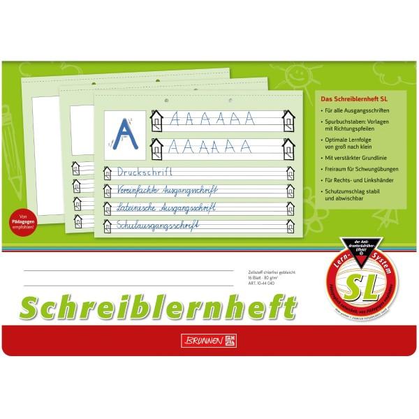 Brunnen Schreiblernheft A4 quer Lineatur SL