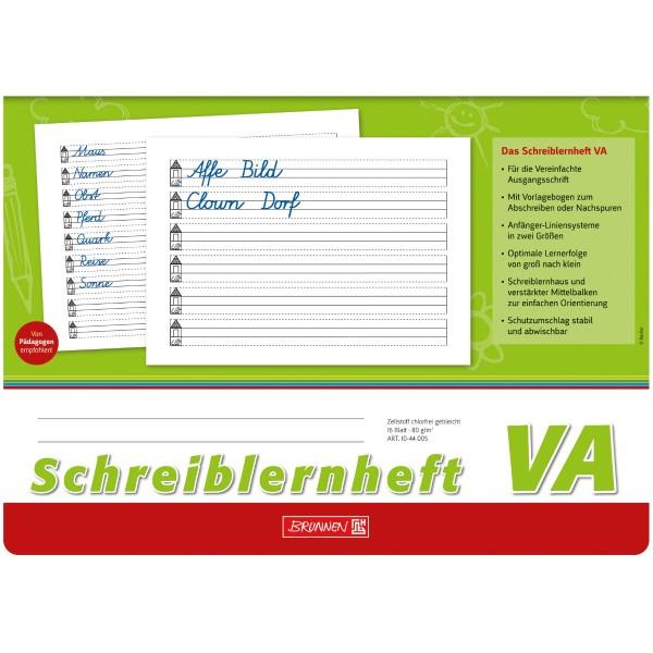 Brunnen Schreiblernheft A4 quer Lineatur VA