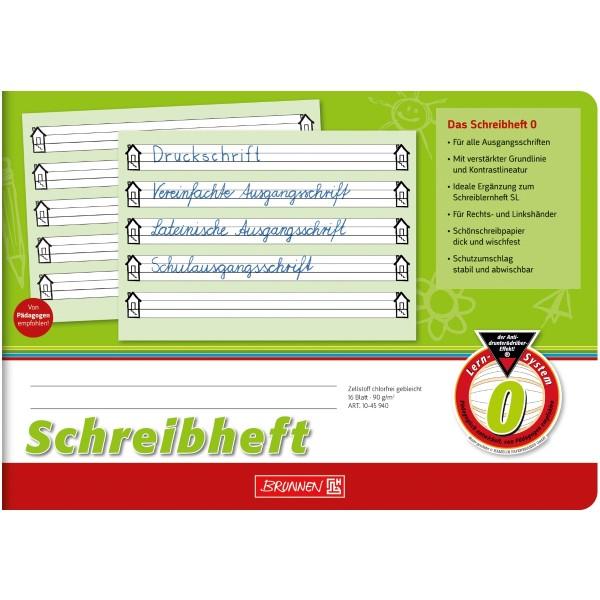 Brunnen Schreiblernheft A5 quer Lineatur 0