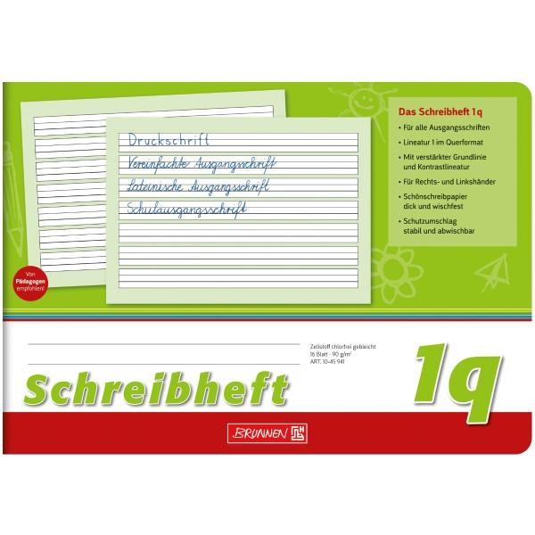 Brunnen Schreiblernheft A5 quer Lineatur 1q