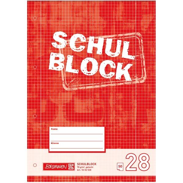 Brunnen Schulblock A4 Lineatur 28