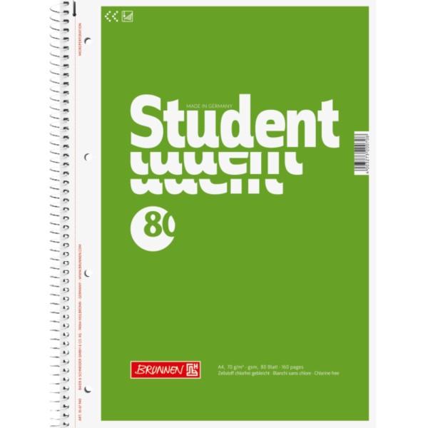 Brunnen Collegeblock A4 unliniert 80 Blatt