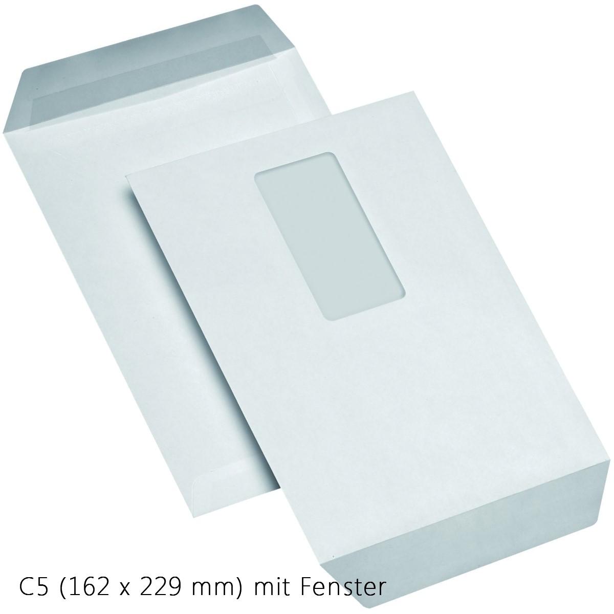 Versandtaschen DIN C5 weiß selbstklebend mit Fenster