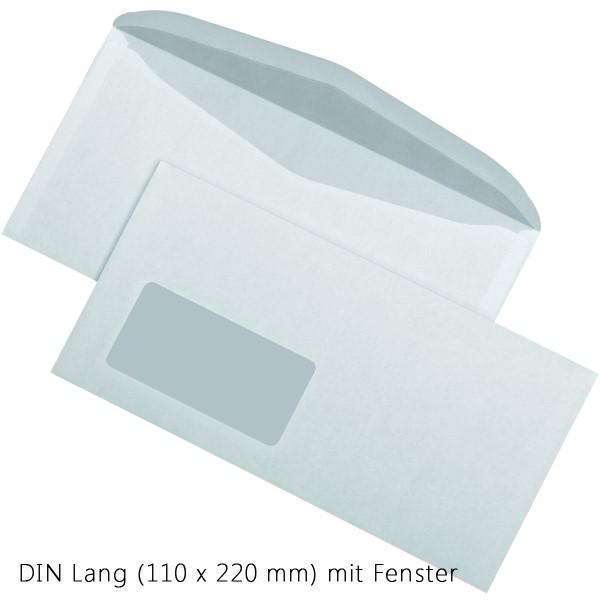 Briefumschlag weiß selbstklebend