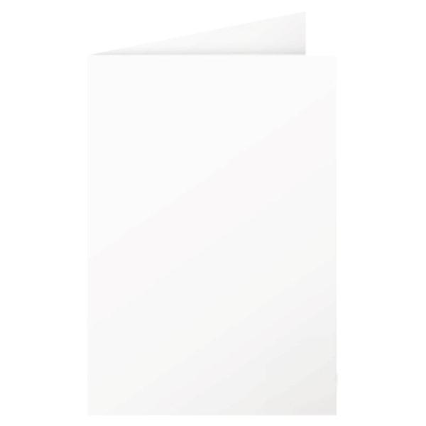 Clairefontaine Doppelkarten C6 110 x 155 210g Perlmutt-Weiß