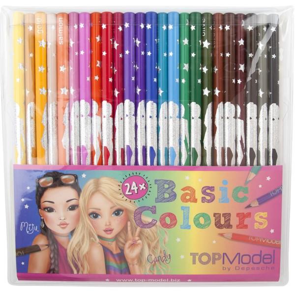 Depesche TOPModel Buntstift-Set 24 Grundfarben Miju und Candy 06710