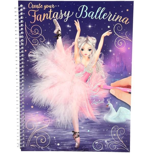Depesche TOPModel Malbuch Create your Fantasy Ballerina Louise 10195