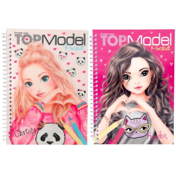 Depesche TOPModel Pocket Malbuch mit 3D Christy / Hayden