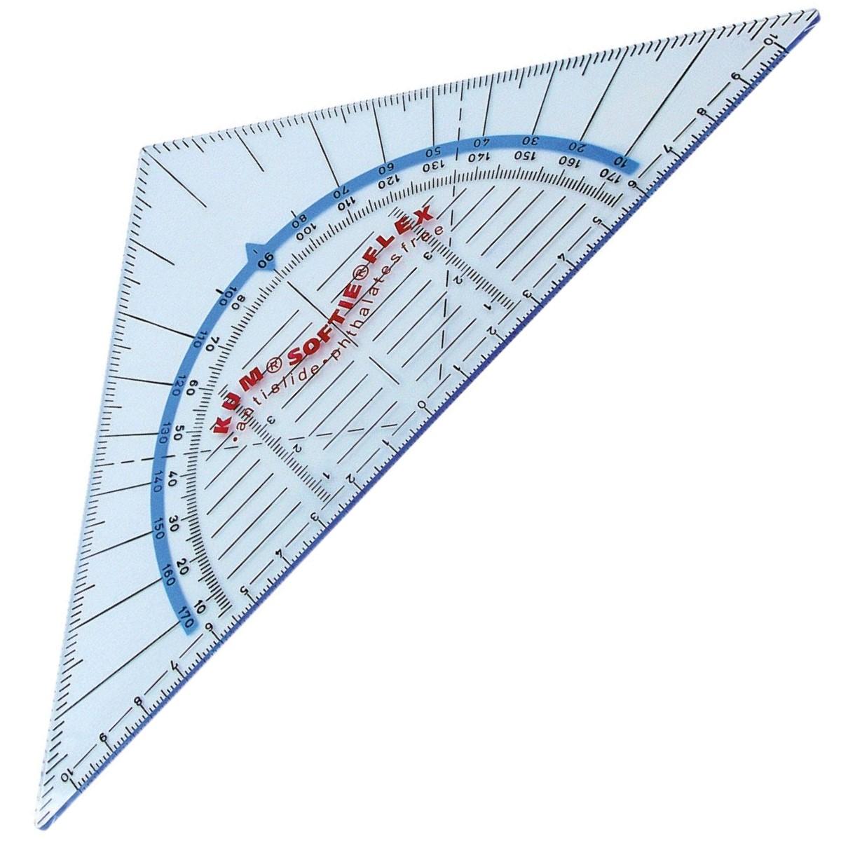 Kum 292 Geo Dreieck Geometriedreieck mit Griff Facette Tuschenoppen