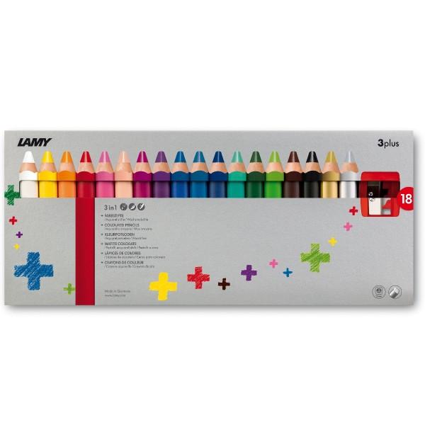 LAMY 3plus 18er-Set-Faltschachtel Farbstifte 520
