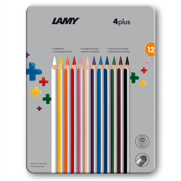 LAMY 4plus 12er-Set-Metallbox Farbstifte 525