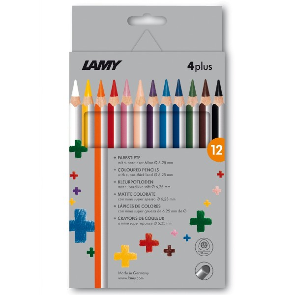 LAMY 4plus 12er-Set-Faltschachtel Farbstifte 525