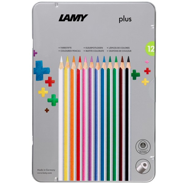 LAMY plus 12er-Set-Metallbox Farbstifte 530