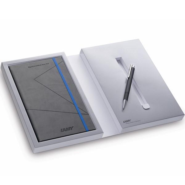 LAMY Notizbuchset mit Kugelschreiber 204 M+ Schwarz