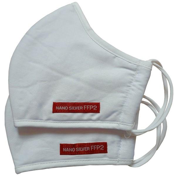 2x Atemschutzmaske Mund Nano Baumwolle 30x Wäschen Antibakteriell FFP2