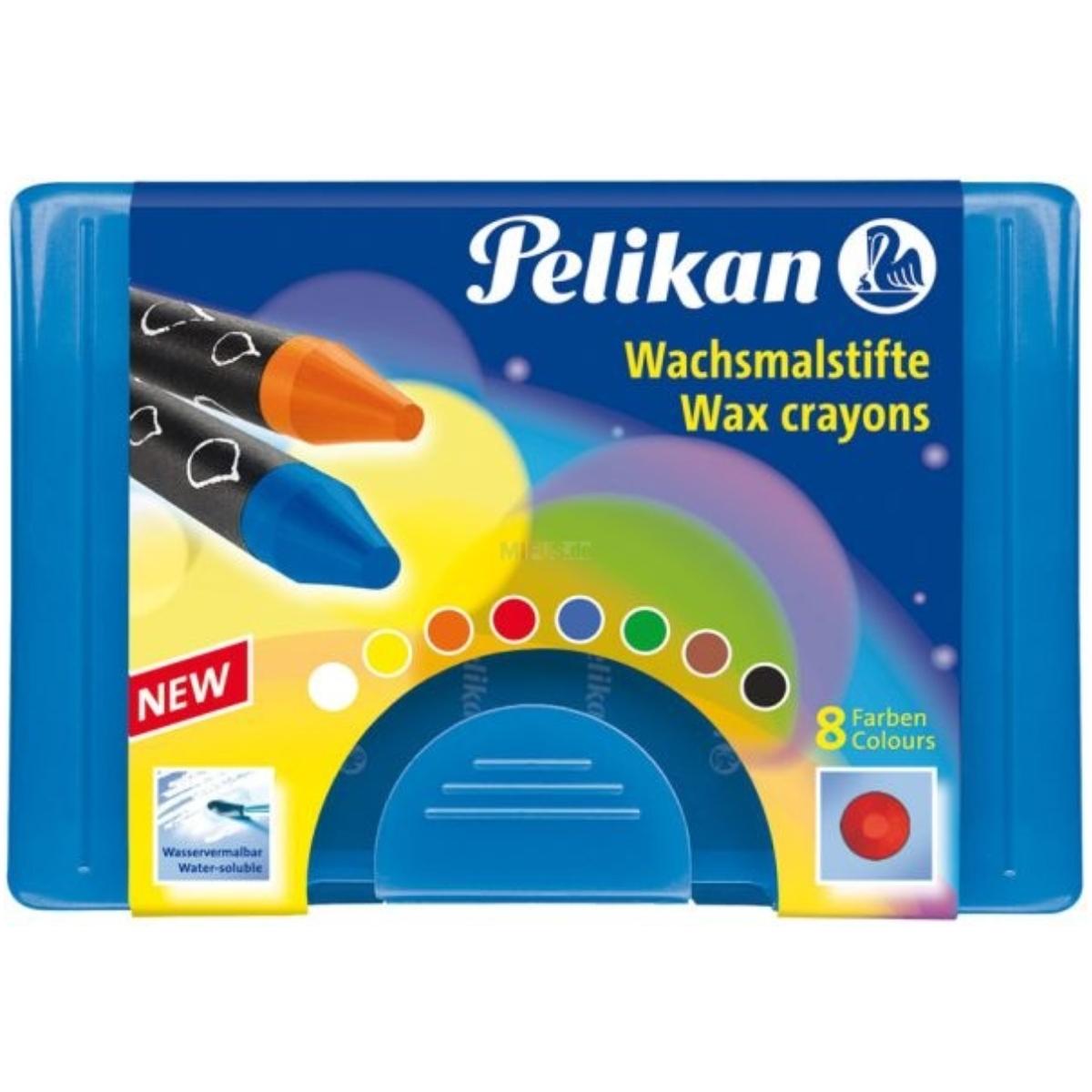 Pelikan Wachsmalstifte rund und wasservermalbar