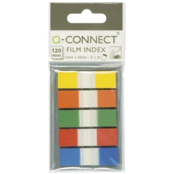 Q-Connect Haftstreifen Transparent (4 Farben je 40 Streifen) - KF01225