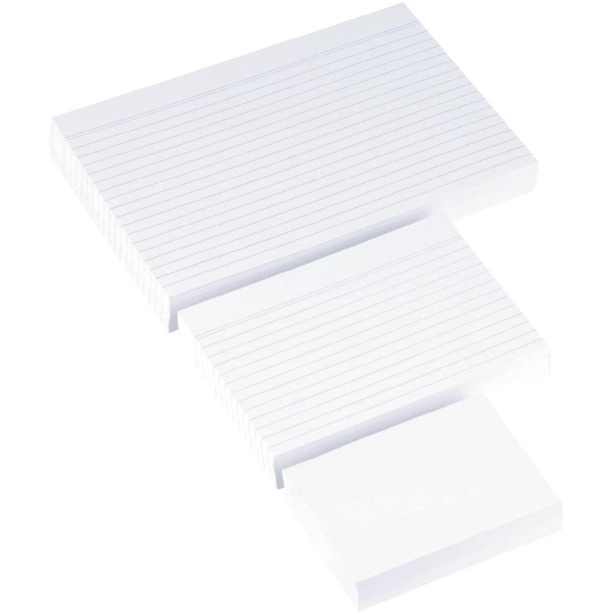 Karteikarten in Weiß