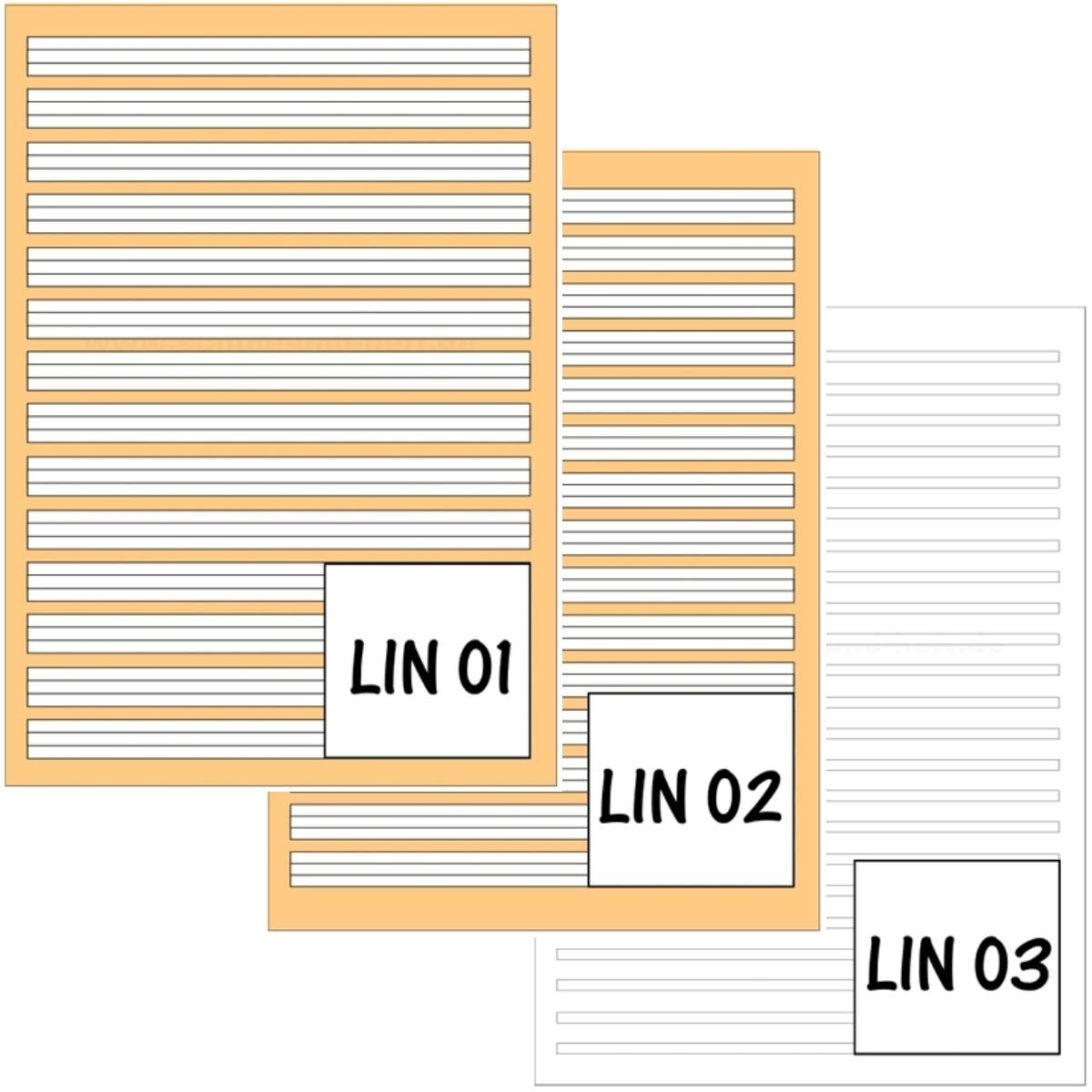 5 x Schulheft DIN-A4 Lin. 2