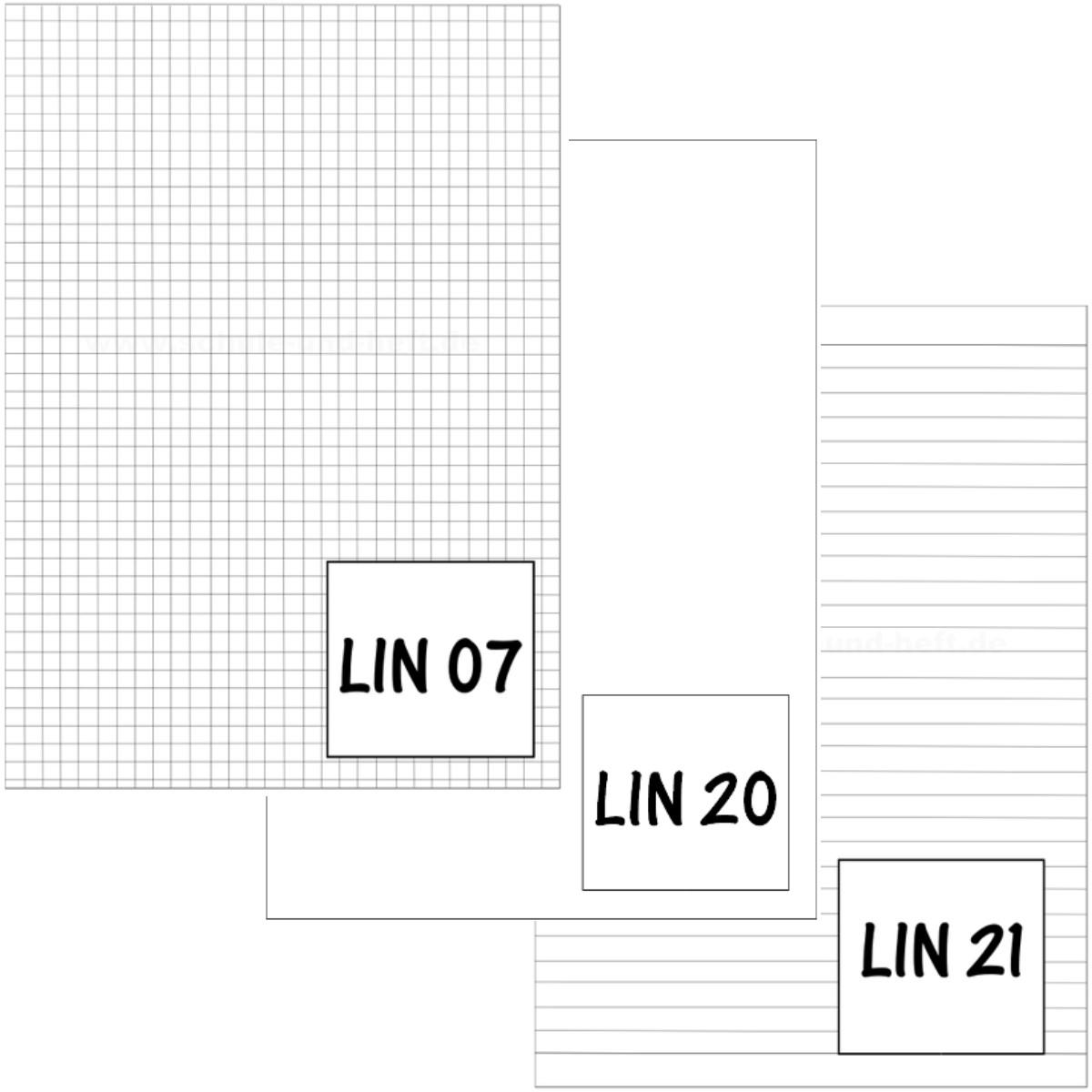 5 x Schulheft DIN-A4 Lin. 21