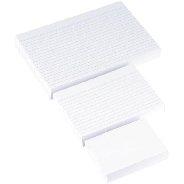 Karteikarten DIN-A6 Weiß liniert
