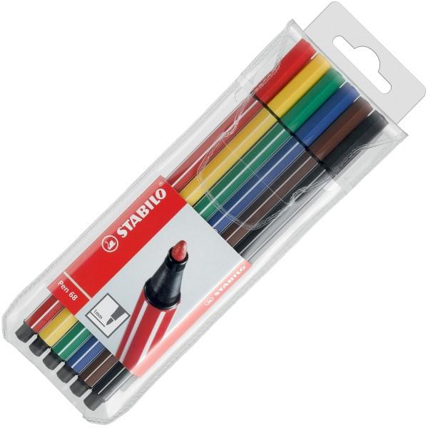 Stabilo Fasermaler Pen 68 6er Etui 6806