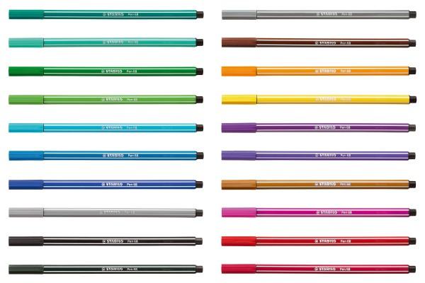 Stabilo Fasermaler Pen 68 smaragdgrün hell