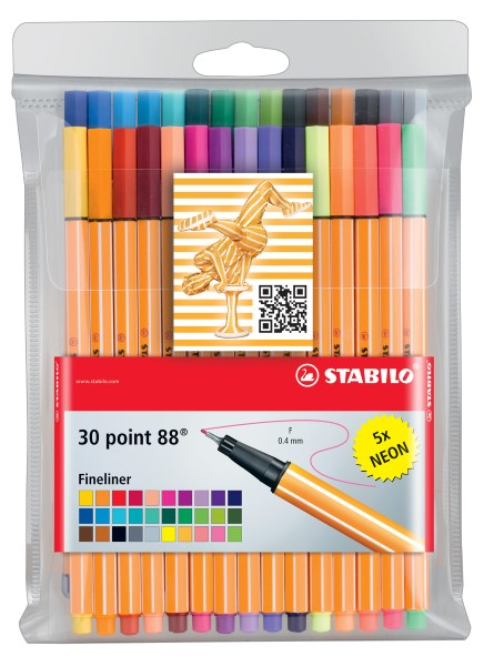 Stabilo Fineliner point 88  30er Etui 8830-1