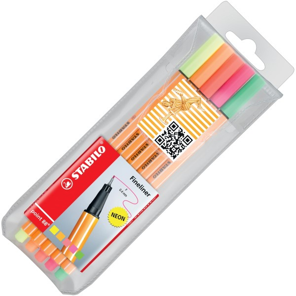 Stabilo Fineliner point 88 5er Etui 8805-1
