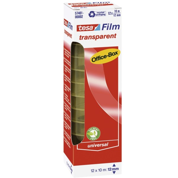 Tesa transparent Film Officebox (12 mm x 10 m) 12 Rollen