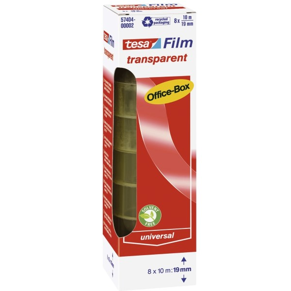Tesa transparent Film Officebox (19 mm x 10 m) 8 Rollen