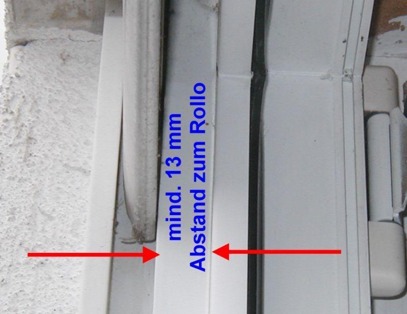 Fliegengitter-Tür - Abstand zum Rolladen