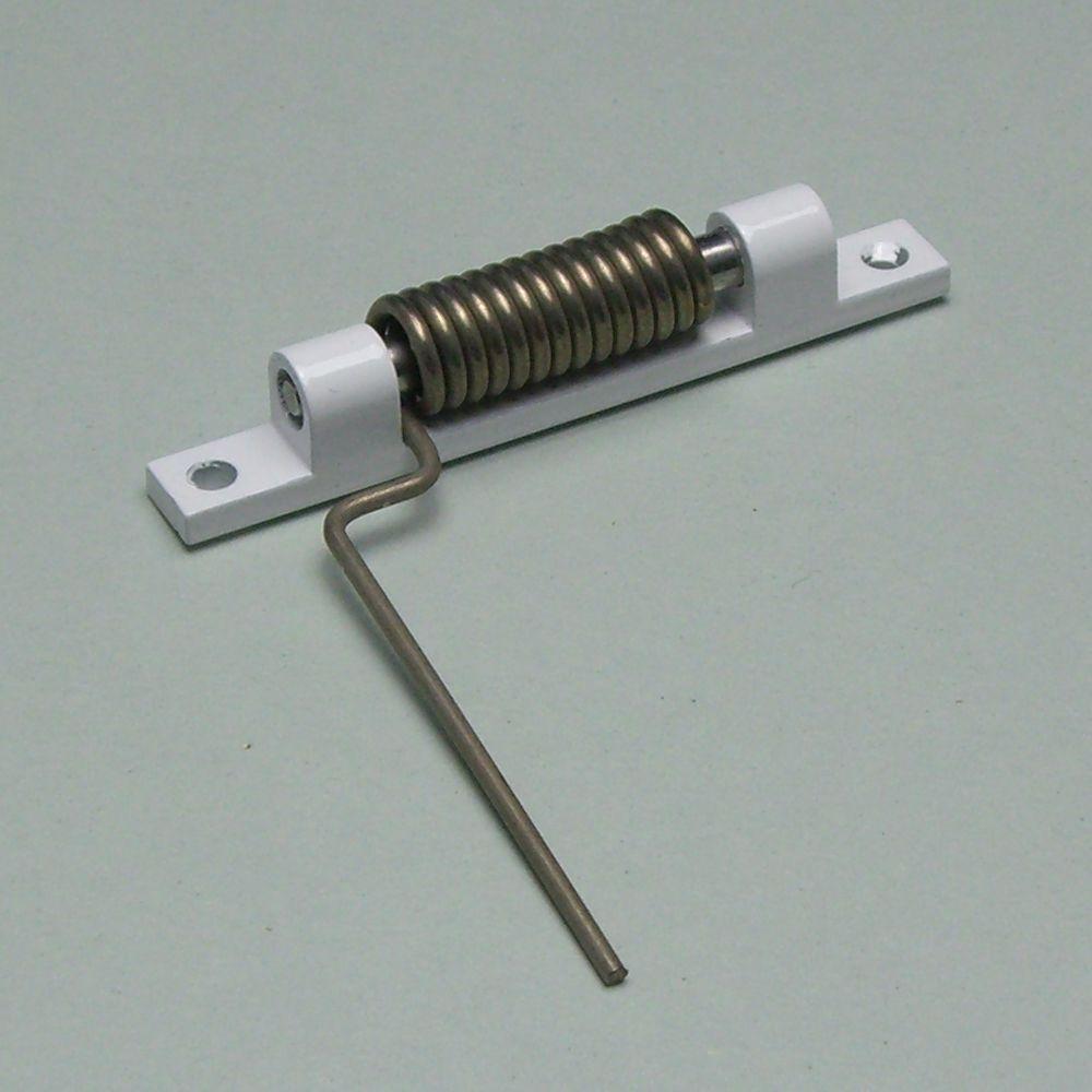 Aluminium Türschließer in weiss (RAL9016)
