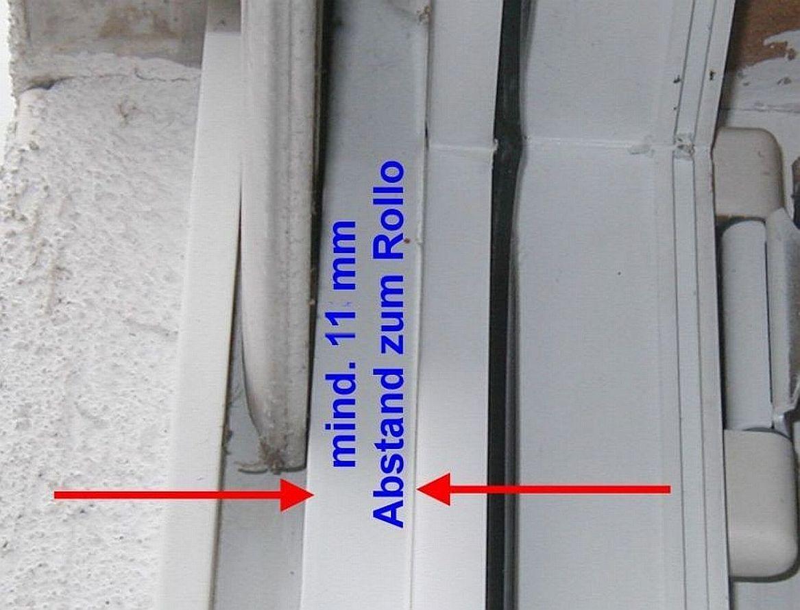 Fliegengitter Fenster Abstand zum Rolladen