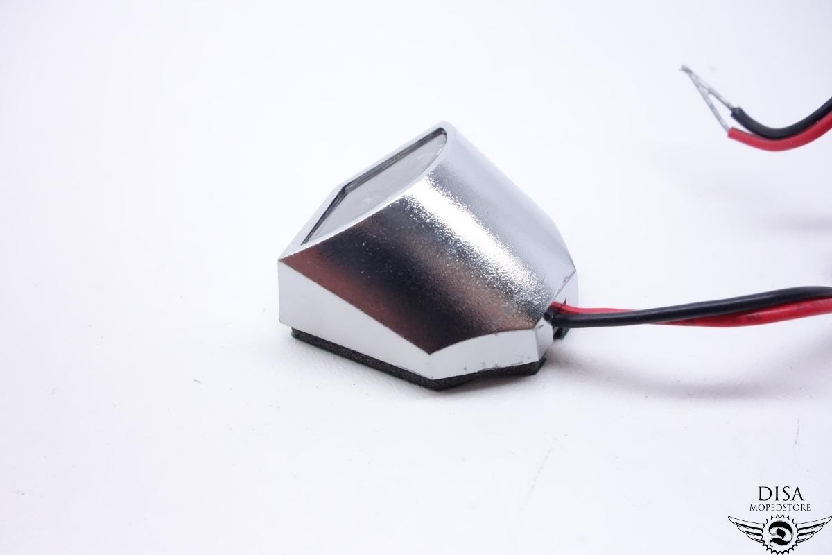 led mini kennzeichen beleuchtung chrom roller motorrad atv. Black Bedroom Furniture Sets. Home Design Ideas