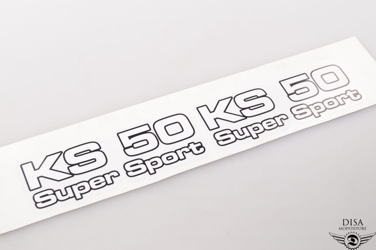 Zündapp Aufkleber KS 50 super sport Dekor Aufkleber Schriftzug Sticker NEU